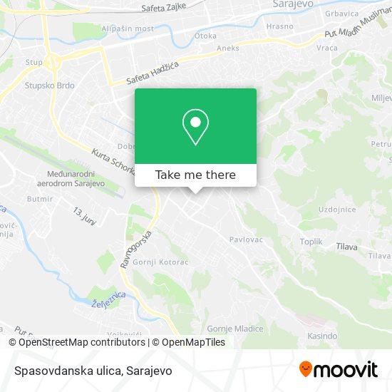 Spasovdanska ulica map