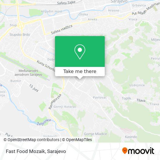 Fast Food Mozaik map