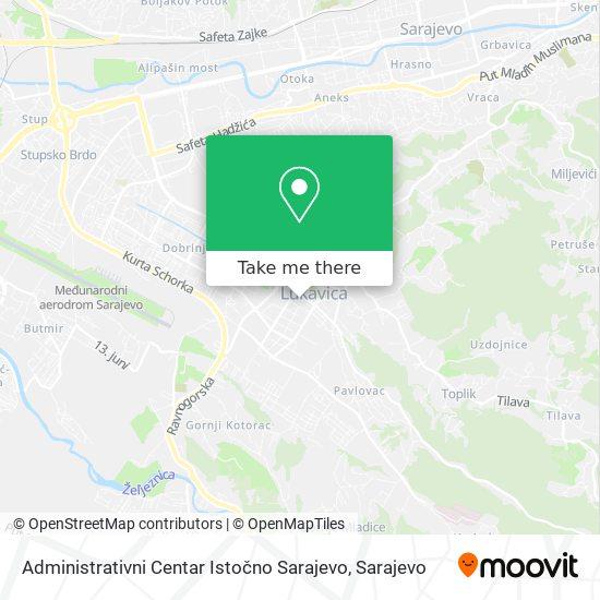 Administrativni Centar Istočno Sarajevo map