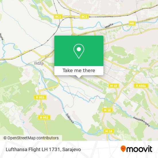 Lufthansa Flight LH 1731 map