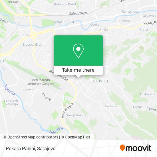 Pekara Panini map