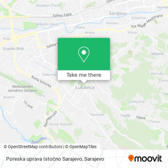 Poreska uprava Istočno Sarajevo map