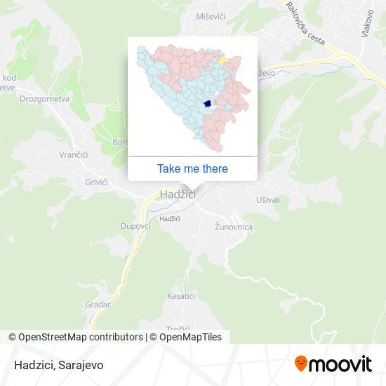 Hadzici map