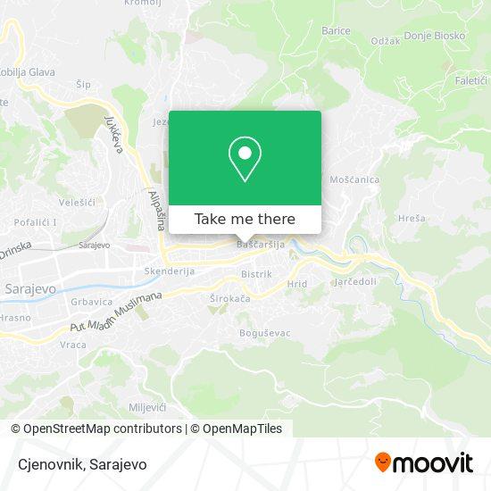 Cjenovnik map