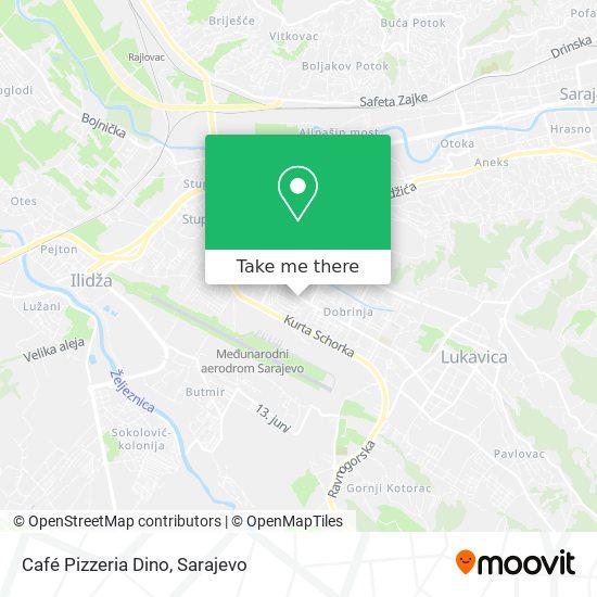 Café Pizzeria Dino map