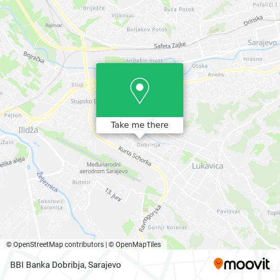 BBI Banka Dobribja map