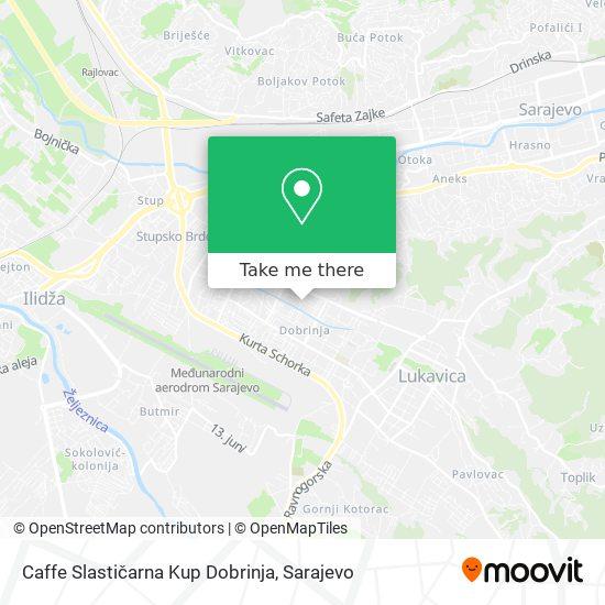 Caffe Slastičarna Kup Dobrinja map