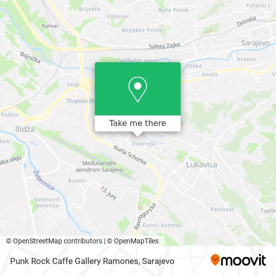Punk Rock Caffe Gallery Ramones map