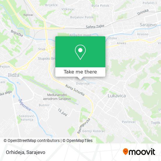 Orhideja map