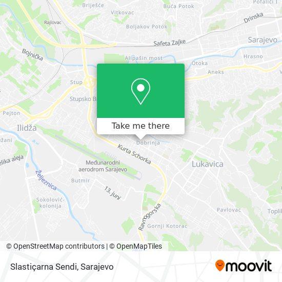 Slastiçarna Sendi map