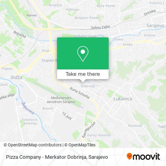Pizza Company - Merkator Dobrinja map