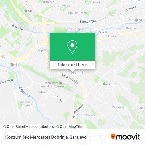 Konzum (ex-Mercator) Dobrinja map