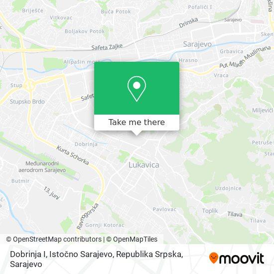 Dobrinja I, Istočno Sarajevo, Republika Srpska map