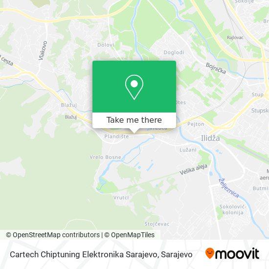 Cartech Chiptuning Elektronika Sarajevo map