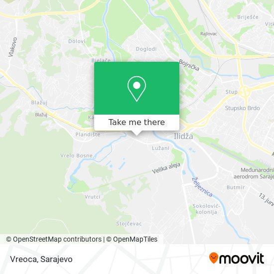 Vreoca map