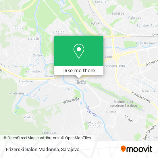Frizerski Salon Madonna map