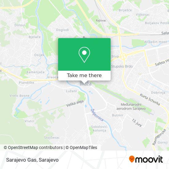 Sarajevo Gas map