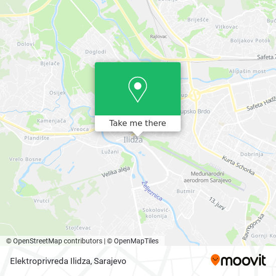 Elektroprivreda Ilidza map