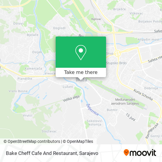 Bake Cheff Cafe And Restaurant map