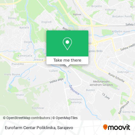 Eurofarm Centar Poliklinika map