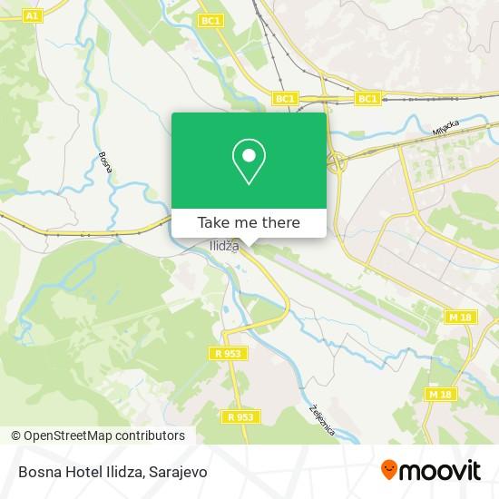 Bosna Hotel Ilidza map
