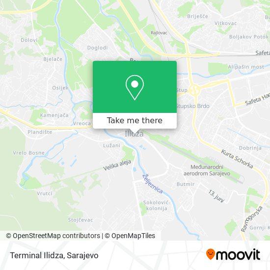 Terminal Ilidza map