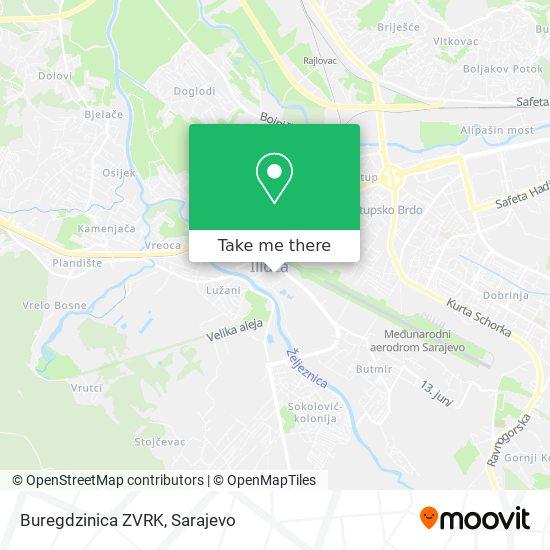 Buregdzinica ZVRK map