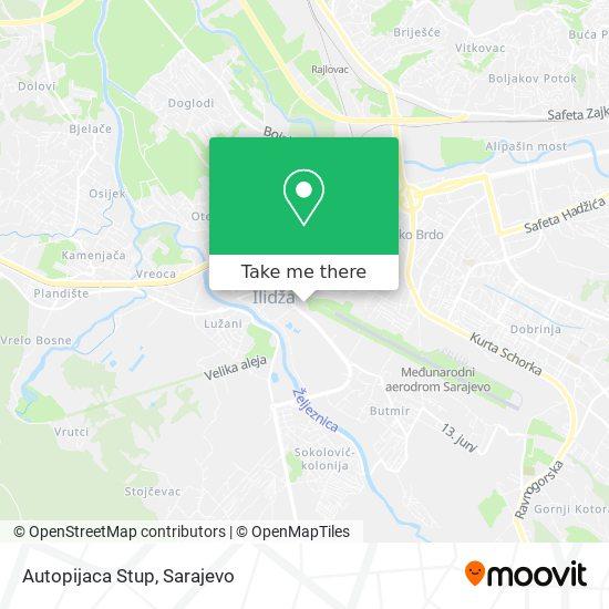 Autopijaca Stup map
