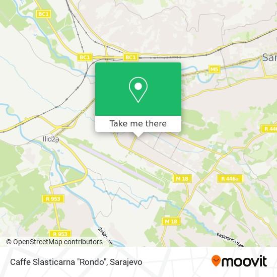 "Caffe Slasticarna ""Rondo"" map"