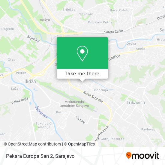 Pekara Europa San 2 map