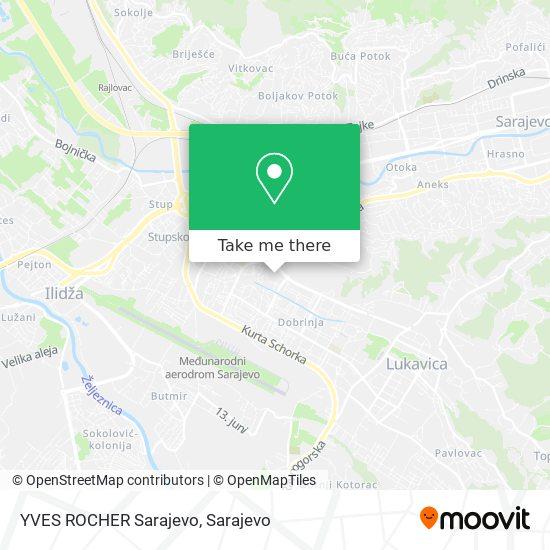 YVES ROCHER Sarajevo map