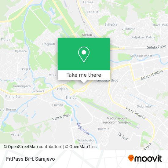 FitPass BiH map