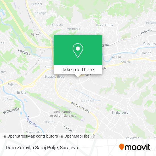 Dom Zdravlja Saraj Polje map