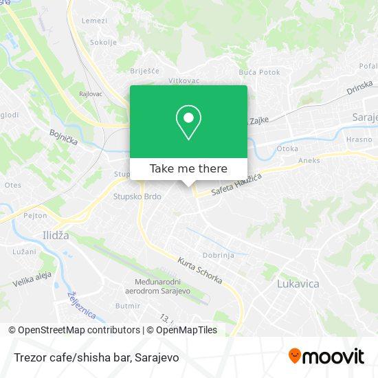 Trezor cafe/shisha bar map