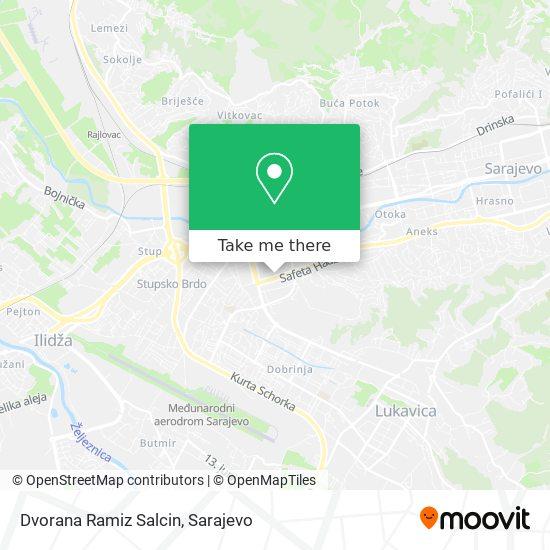 Dvorana Ramiz Salcin map