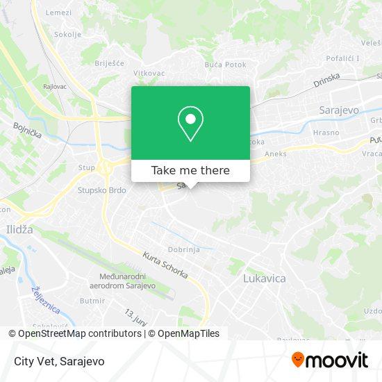 City Vet map