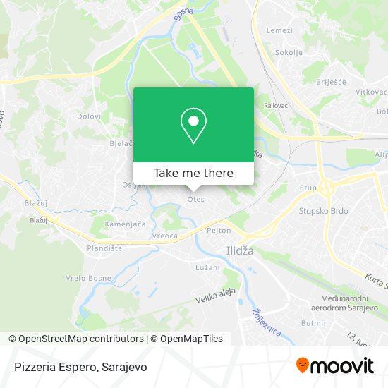 Pizzeria Espero map