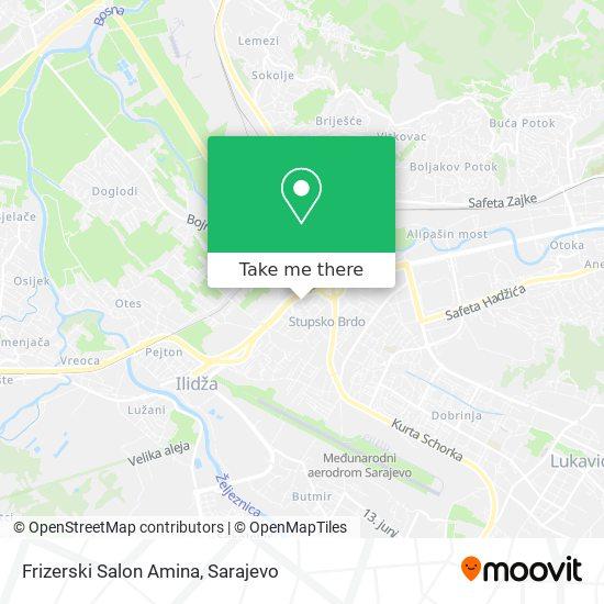 Frizerski Salon Amina map