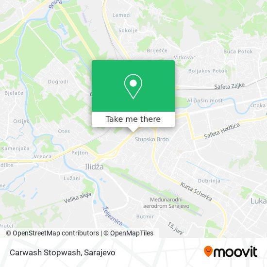 Carwash Stopwash map