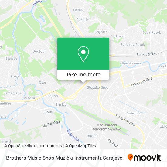 Brothers Music Shop Muzički Instrumenti map
