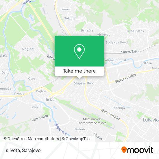 silveta map