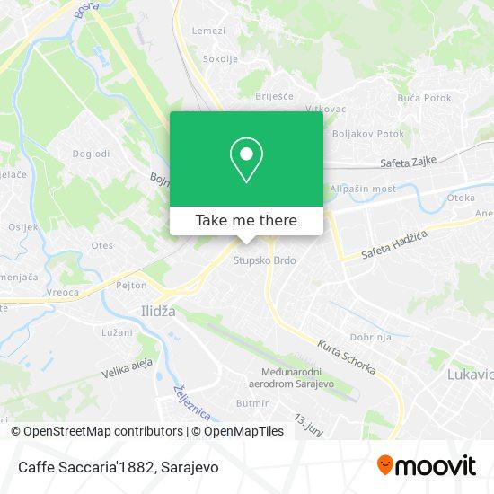 Caffe Saccaria'1882 map