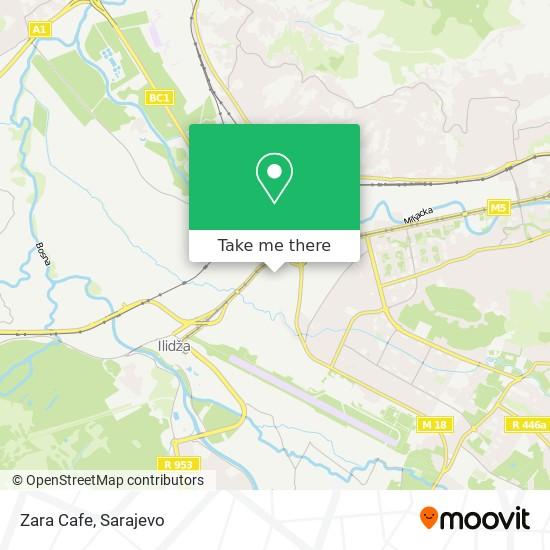 Zara Cafe map