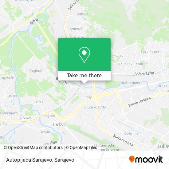 Autopijaca Sarajevo map