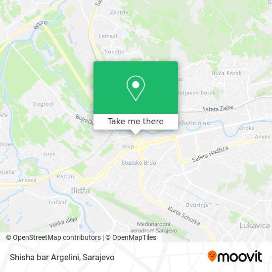Shisha bar Argelini map