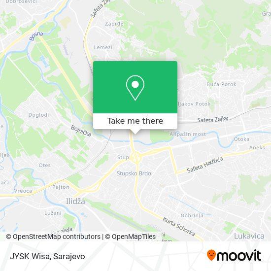 JYSK Wisa map