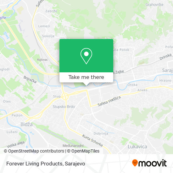 Forever Living Products map