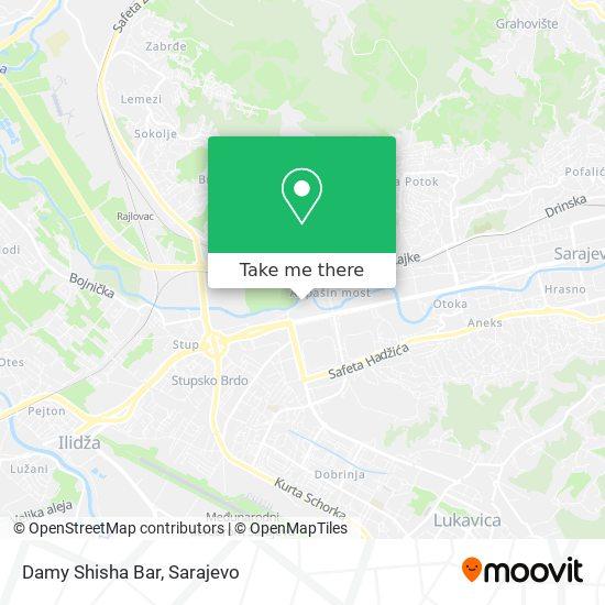 Damy Shisha Bar map