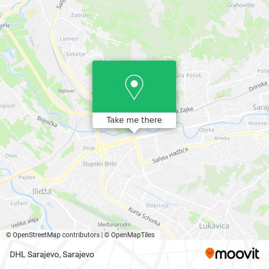 DHL Sarajevo map
