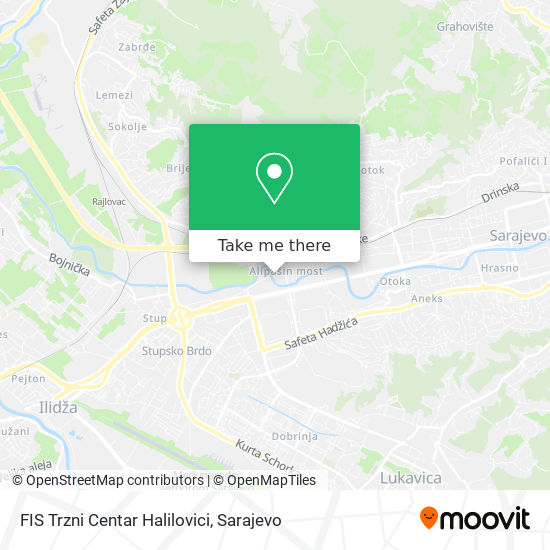 FIS Trzni Centar Halilovici map